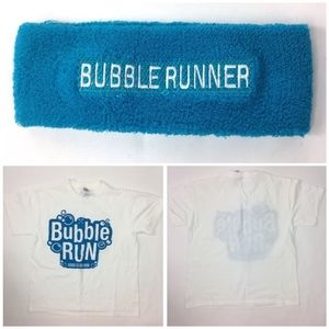 Other - Bubble Run Youth T-Shirt Size Large & Headband